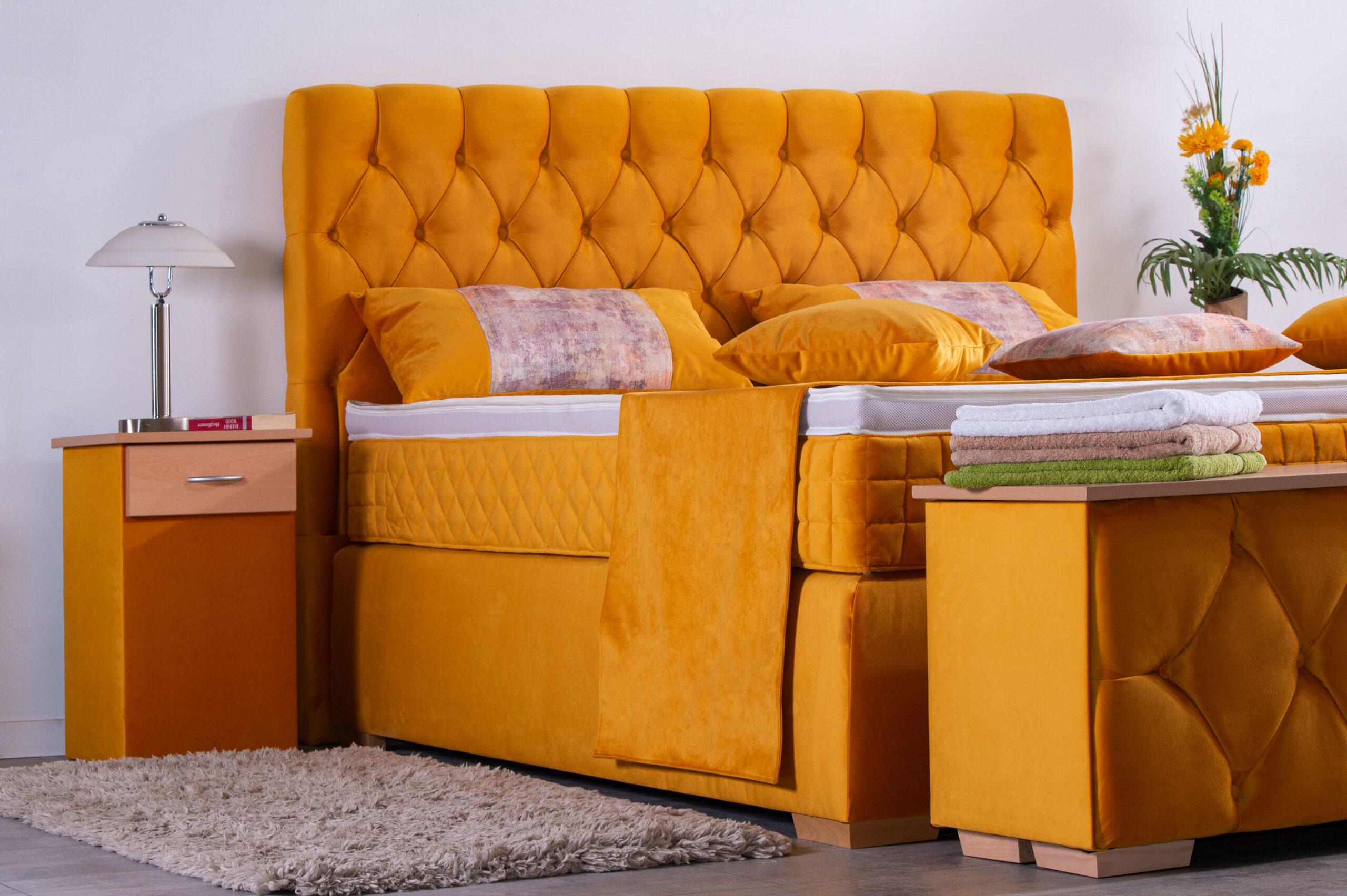 Luna Boxspringbett 100x200 über 120 Farben Härtegrad H2 H3 H4